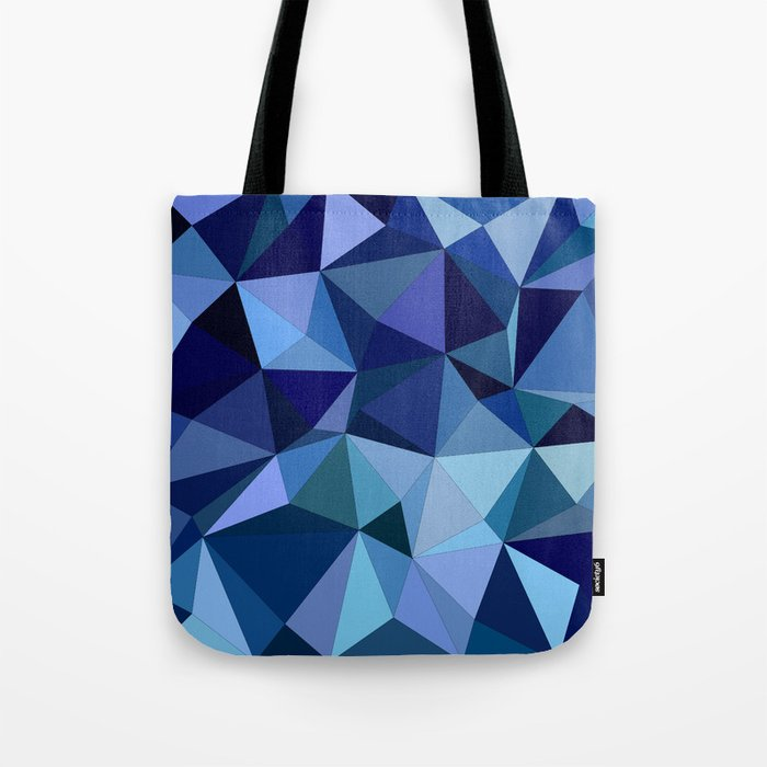 Blue triangles Tote Bag
