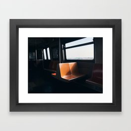 On my way / New York City subway Framed Art Print