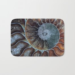 Spiral Ammonite Fossil Bath Mat
