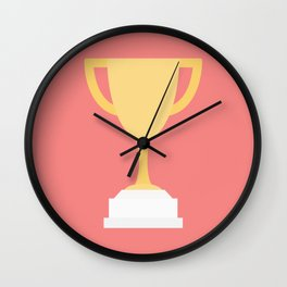 #100 Trophy Wall Clock