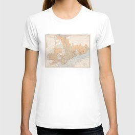 Vintage Map of Montreal Canada (1915) T-shirt