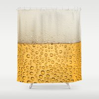 beer Shower Curtains featuring Beer by Rorzzer