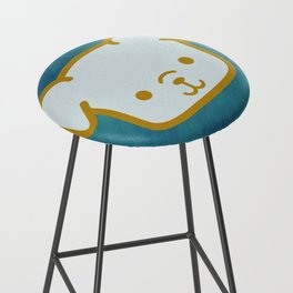 Woof - Dog Graphic - Chalkboard Inspired Bar Stool