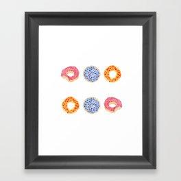 doughnut selection Framed Art Print