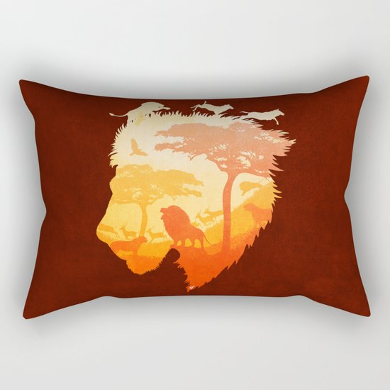 The Soul of a Lion Rectangular Pillow