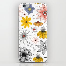 eclectic flower pattern iPhone Skin