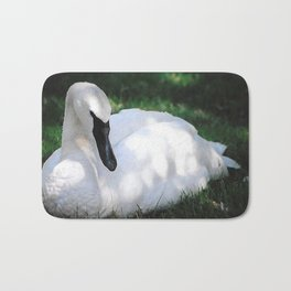 Trumpeter Swan at Rest Bath Mat