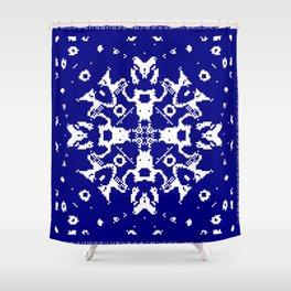 CA Fantasy Deep Blue-White series #6 Shower Curtain