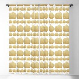 Gold Glitter Pumpkin Blackout Curtain