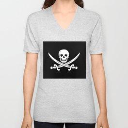 Jolly Roger Pirate Unisex V-Neck