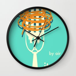 by air Italy Wall Clock