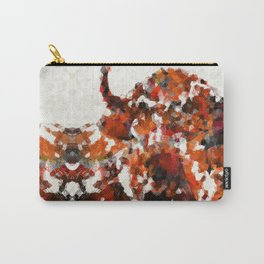 Modern Red Buffalo Art By Sharon Cummings Carry-All Pouch