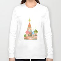 moscow Long Sleeve T-shirts featuring Moscow by Chay Lazaro