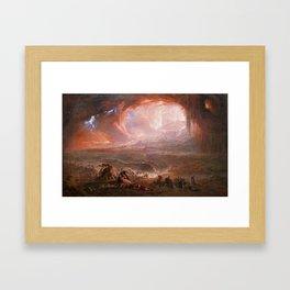 The Destruction of Pompeii and Herculaneum, John Martin Framed Art Print