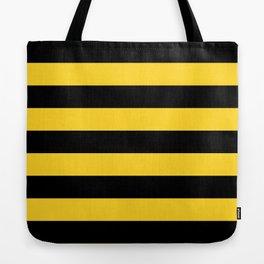 Yellow and Black Honey Bee Horizontal Cabana Tent Stripes Tote Bag