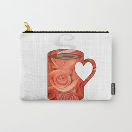 roses heart handle mug - coffee cup series Carry-All Pouch