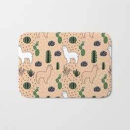 Alpaca&cactus Bath Mat