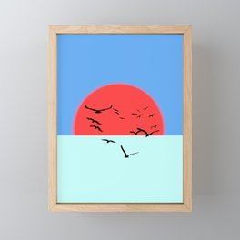 Incandescent sun Framed Mini Art Print