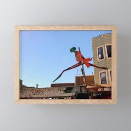 A Flying Leap Framed Mini Art Print