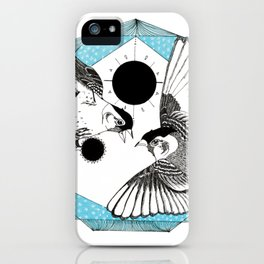 The Birds and the Prism - Ink artwork iPhone Case