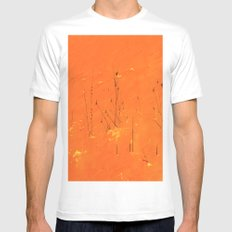 Winter Grasses White MEDIUM Mens Fitted Tee