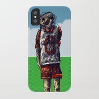 football iPhone & iPod Cases featuring football by jenapaul