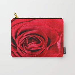 Red Rose Close-up #decor #society6 #buyart Carry-All Pouch