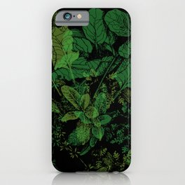 midnight plants iPhone Case