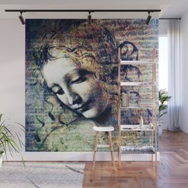 Leonardo Da Vinci Female Head Wall Mural