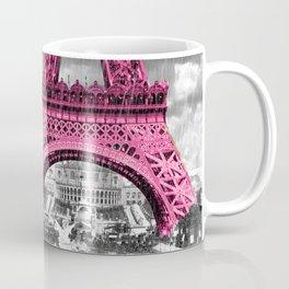 Pink Paris Rain Coffee Mug