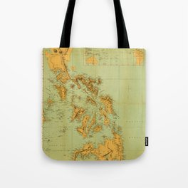 Map Of The Philippines 1898 Tote Bag