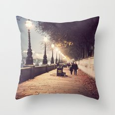 London Stroll  Throw Pillow