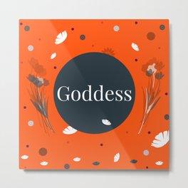 Tangerine Flower Goddess Metal Print