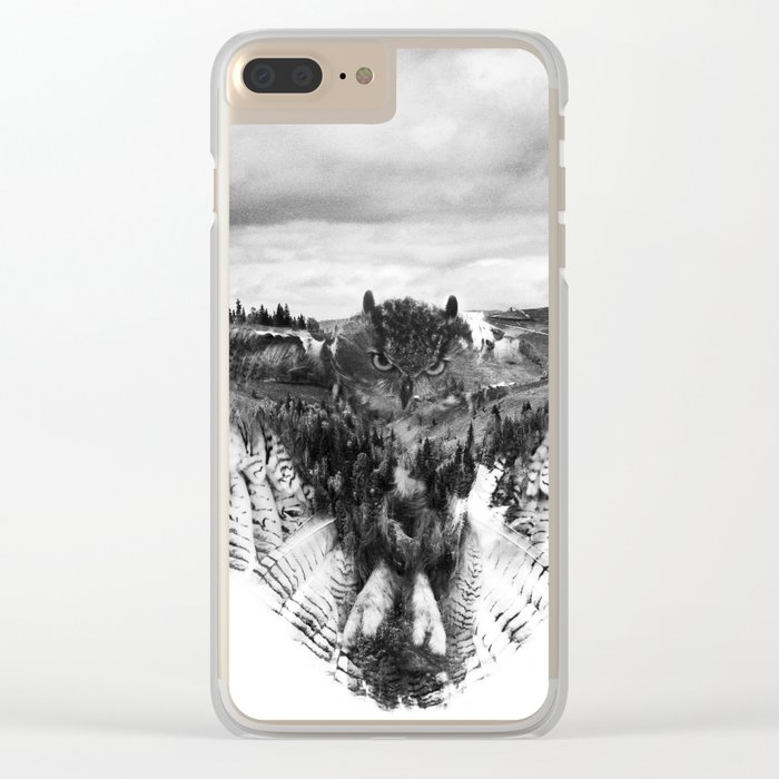Owl Mid Flight Clear iPhone Case