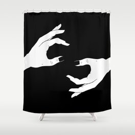 Hand-Drawn Hand Drawing Shower Curtain