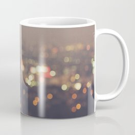 Los Angeles cityscape at night. Abstract Mulholland Coffee Mug