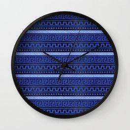 Traditional Greek Meander Pattern Wall Clock