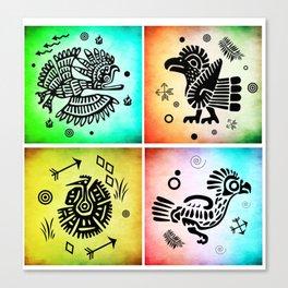 Tribal Symbols 01 Canvas Print