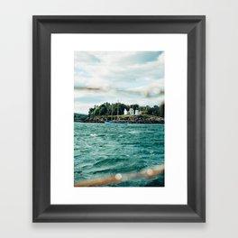 Sailing Past Curtis Lighthouse Framed Art Print