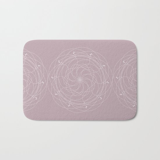 Ornament – Merry Go Round Flower Bath Mat