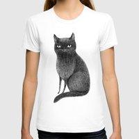 black cat T-shirts featuring Black Cat by Sophie Corrigan