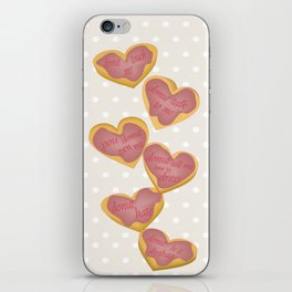 Independent donut hearts iPhone Skin