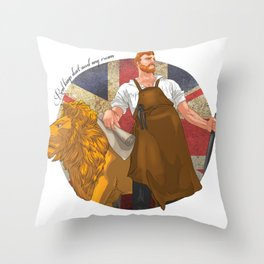 Real kings don't need any crown Throw Pillow