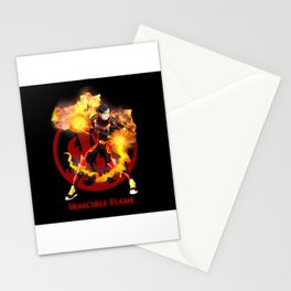 Irascible Flame Cartoon Stationery Cards