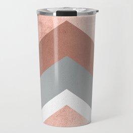 Grey, Bronze Chevron Home Decor Design Travel Mug