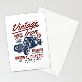 Vintage iron original classic - Awesome vintage car lover Gift Stationery Cards