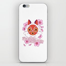 Princess Mononoke Mask Tattoo iPhone Skin