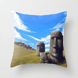 Rapanui Throw Pillow