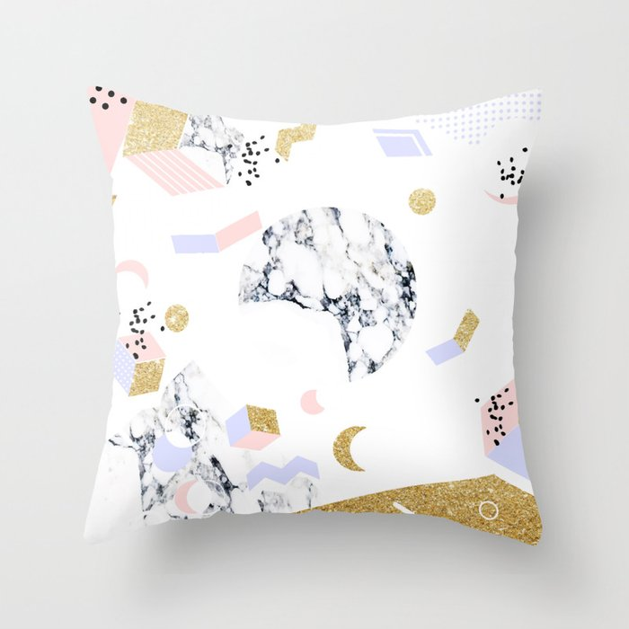 Marble Moon Abstraction #society6 #decor #buyart Throw Pillow