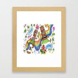 Hawaiian Tiki Play Date Framed Art Print